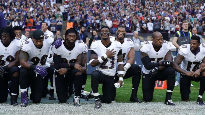 #takeaknee trending hashtag reveals sharp debate over NFL players' kneeling: https://t.co/y4Ftf5xjJW https://t.co/rAoHRxOQG2