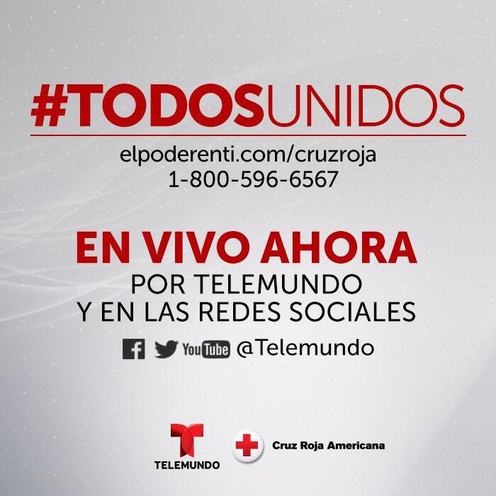 Estamos EN VIVO en todas nuestras cuentas digitales con @Telemundo ¡Únete ya! #TodosUnidos �������� https://t.co/gWiVYRz6ZS