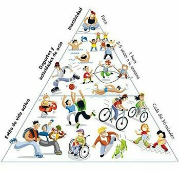 Piràmide de l'actividad física. #BeActive #HealthyLiving https://t.co/ixVqEDrzL9
