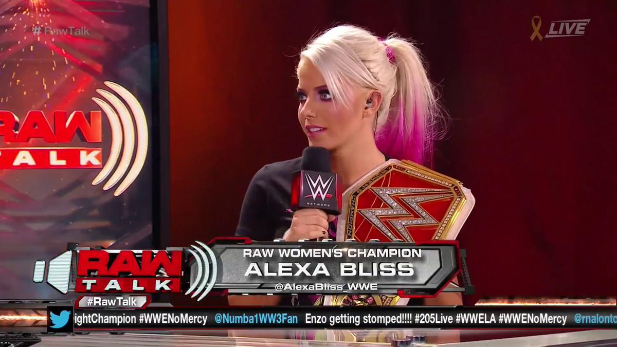 The #RAW #WomensChampion graces with her p...