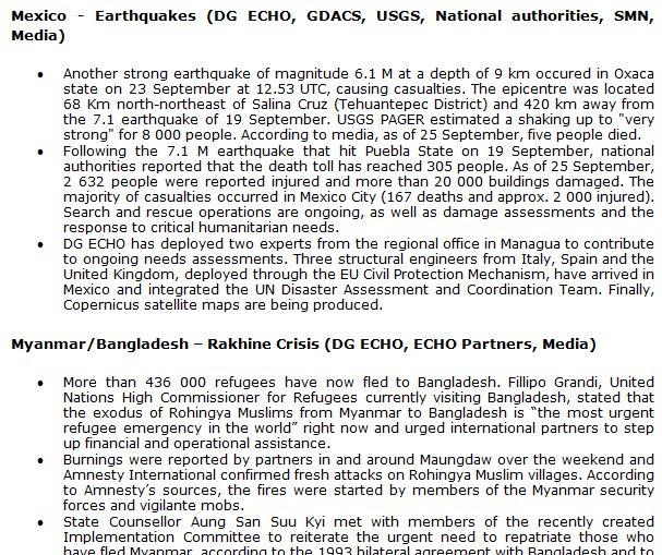 test Twitter Media - Daily Flash ⚡️| #Mexico earthquakes | #Rhakine crisis - 436k+ refugees have fled to #Bangladesh | Hurricane #Maria | https://t.co/HRcEVd4GcO https://t.co/3QZyfAEc1U