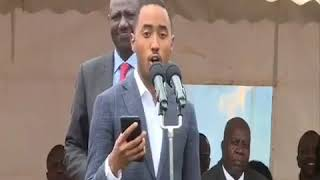 Uhuru Kenyatta's son Muhoho Kenyatta reads speech from phone, Kenyans react (Video)