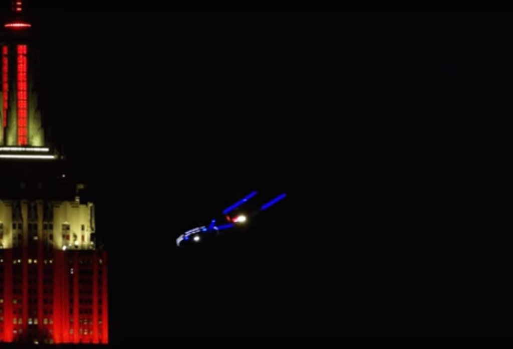 """Star Trek: Discovery"" spacecraft flies across New York City"