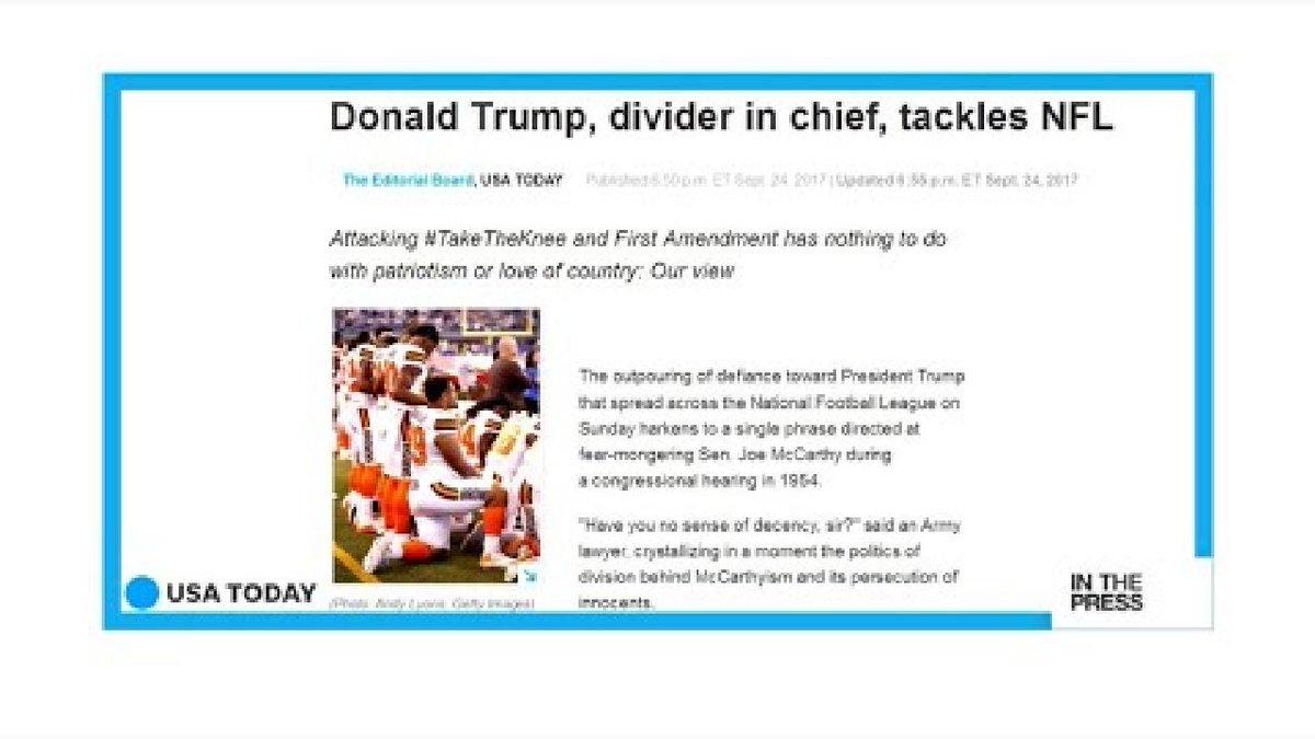 ?? Donald Trump v NFL: America's divider in chief or America's saviour?