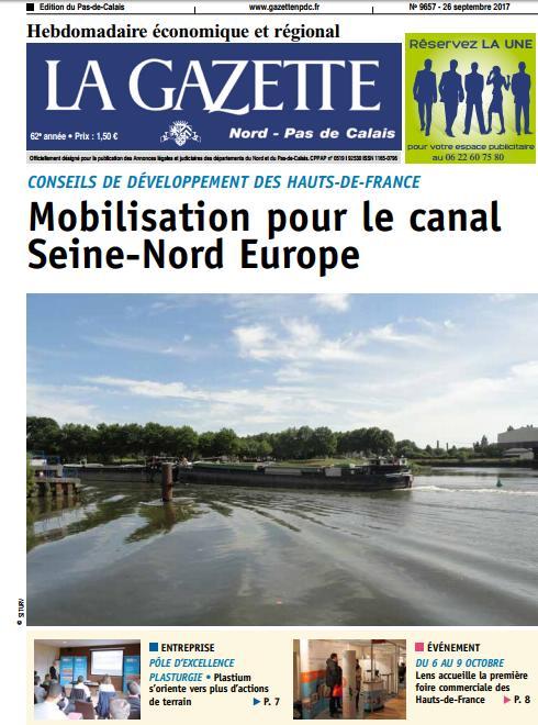 test Twitter Media - Retrouvez l'édition Pas-de-Calais de votre @La_Gazette_NPDC , en kiosque dès demain! @jmprestaux #canal_Seine_Nord @plastium https://t.co/v4EQCzIUrn
