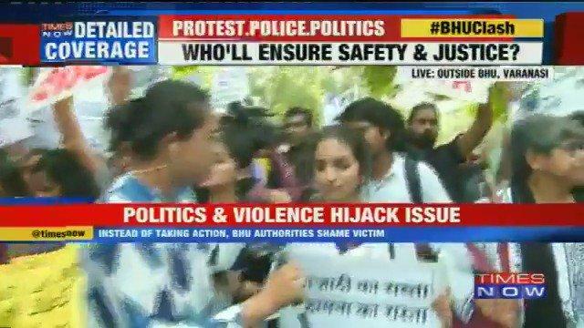 #BHUClash Students from Jawaharlal Nehru University and Delhi University protests at Jantar Mantar in New Delhi