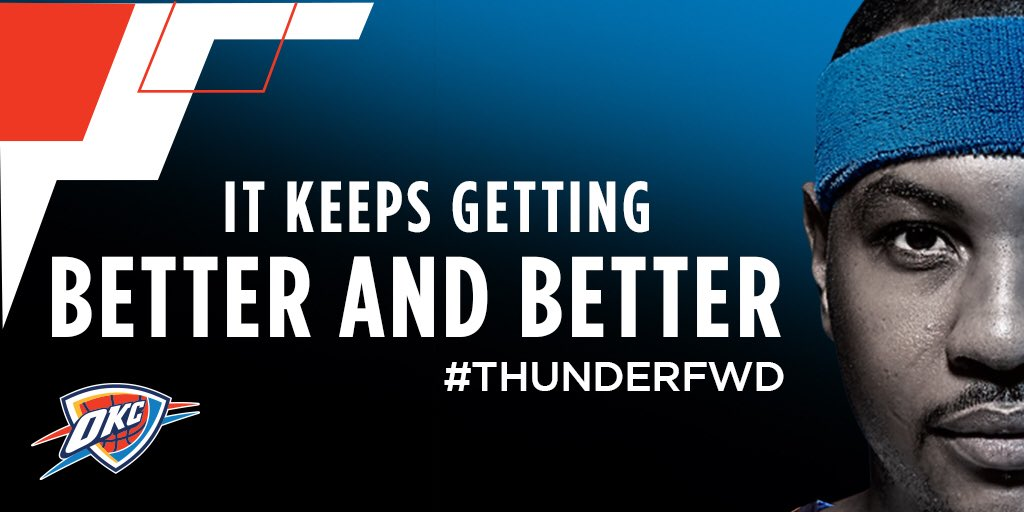 Done deal. #MelOKC #ThunderFWD @carmeloanthony https://t.co/UcGtKc0Zak