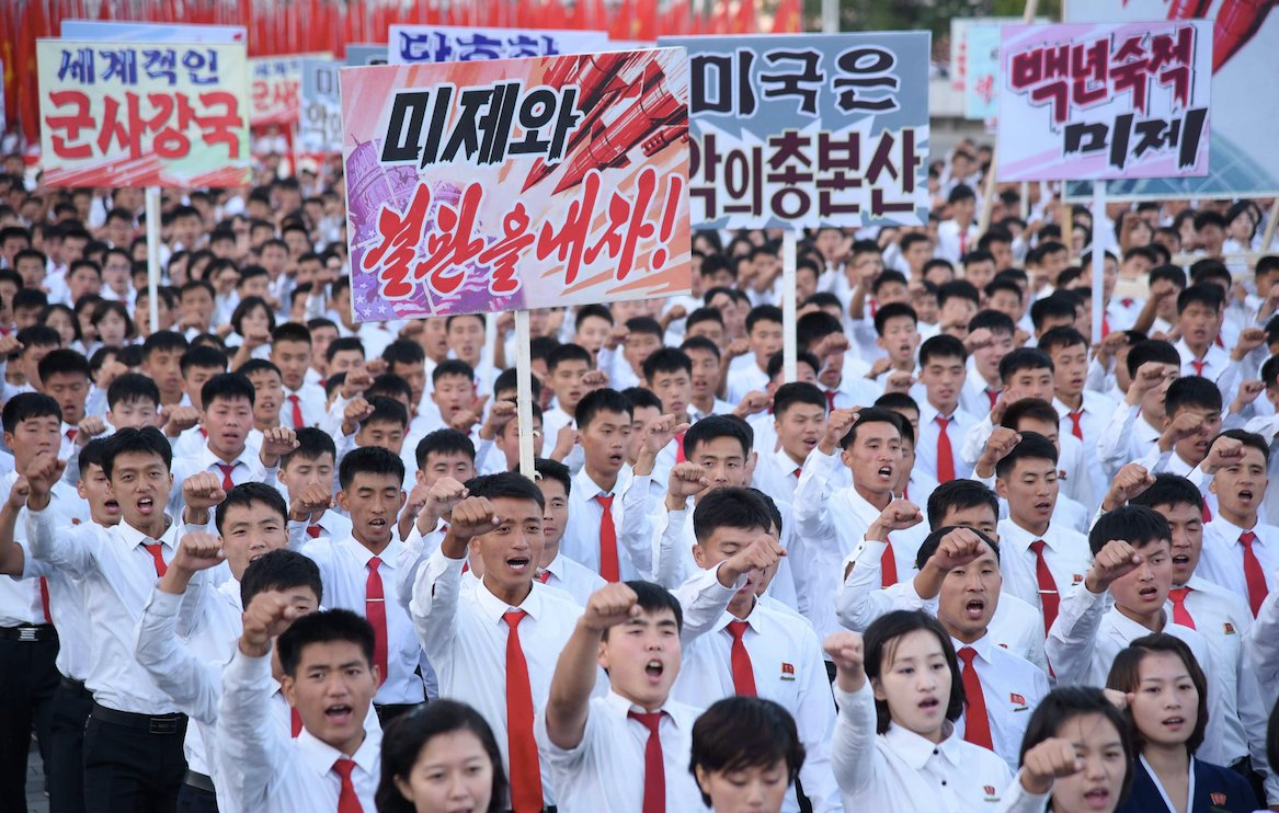 Trump cranks up North Korea threats as Pyongyang holds anti-U.S. rally