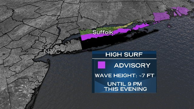 A High Surf Advisory remains in effect until this evening for southern...