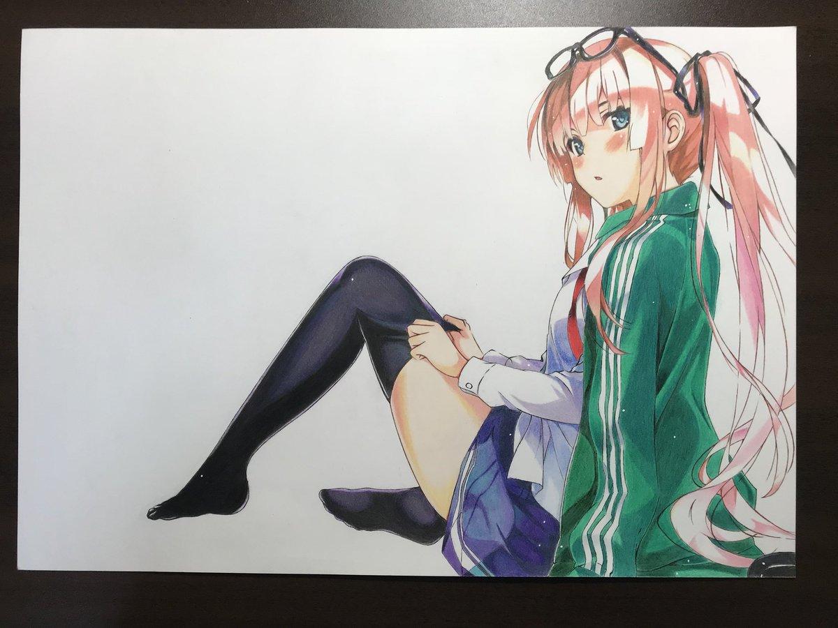 色鉛筆で澤村・スペンサー・英梨々描きました#模写 #冴えカノ