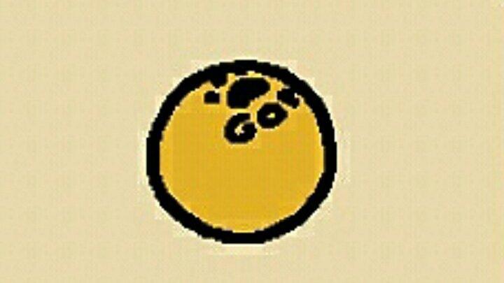 #ねこあつめあの~💦今頃気づいたのですが...ピンポン球に肉球😆❤あと何か書いてある!😲