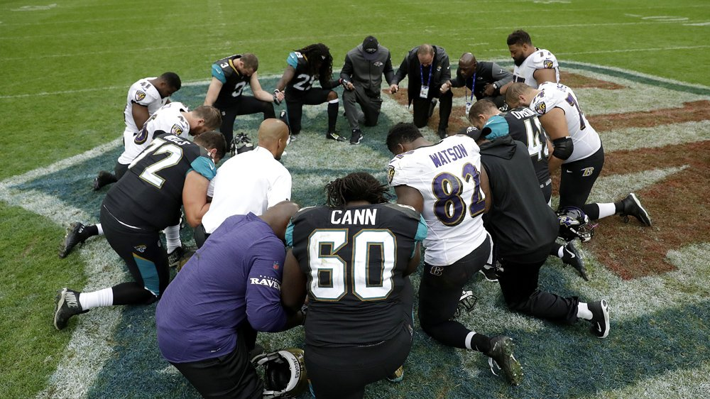 """""""Take a knee.""""  Wave of protests grip NFL after Donald Trump's player comments"""