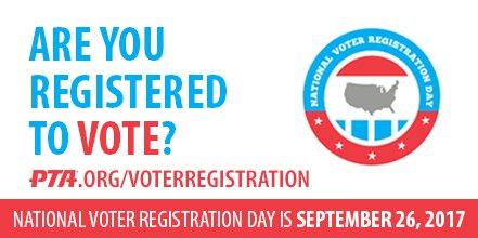 Celebrate #NationalVoterRegistrationDay on Sept 26 & update your v...