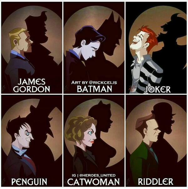 Today we celebrate all of the #Gotham fan art out there. #NationalComi...