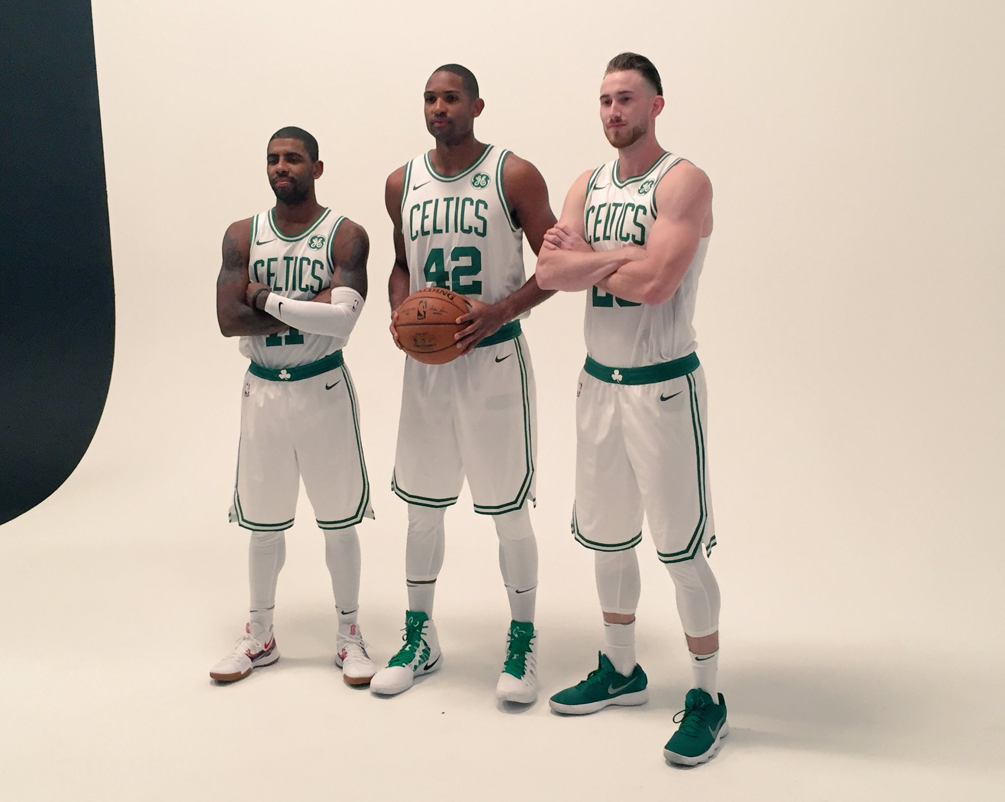 Introducing... the new Boston @Celtics Big 3! �� �� ��    #NBAMediaDay https://t.co/9P4WHrxzAJ