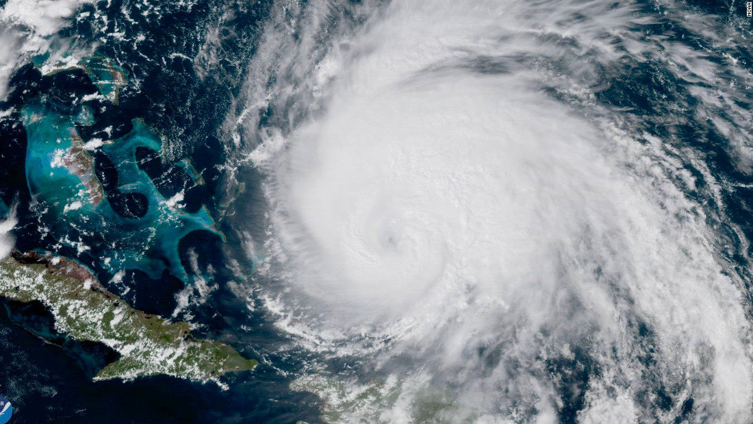 Hurricane Maria sending high winds, surf up East Coast