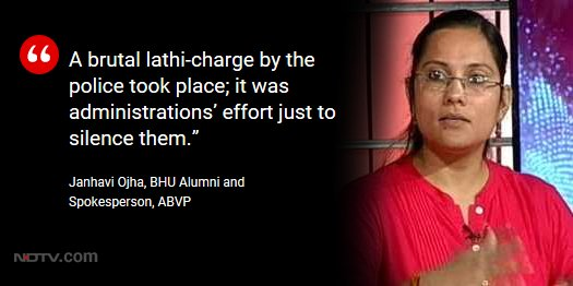 #BHUViolence | Janhavi Ojha, BHU alumni and spokesperson, ABVP, on #TheBuckStopsHere https://t.co/CyvgrOAeL6