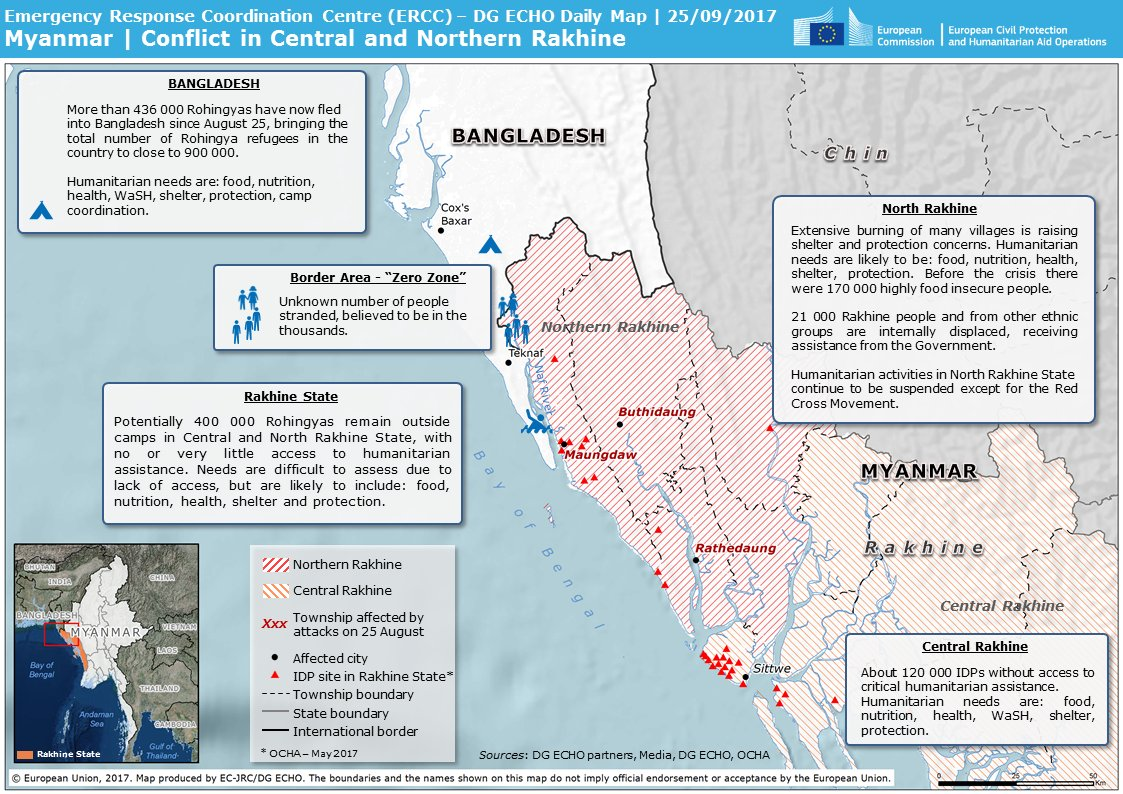 test Twitter Media - #Myanmar | Over 436 000 #Rohingyas have fled into #Bangladesh since August 25. Mapped overview of the crisis in #Rakhine State below. https://t.co/4bRvIFDk8Z