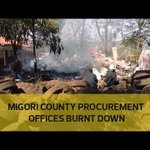 Migori county procurement offices burnt down