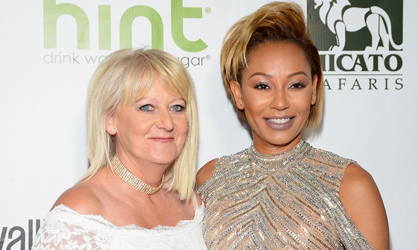 Mel B has been relying on her mum for support during her bitter divorce battle...