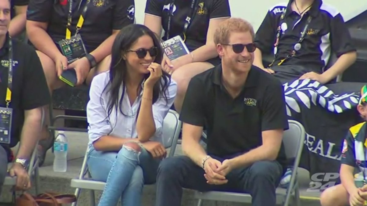 WATCH LIVE: Prince Harry and Meghan Markle appear together at the Invi...