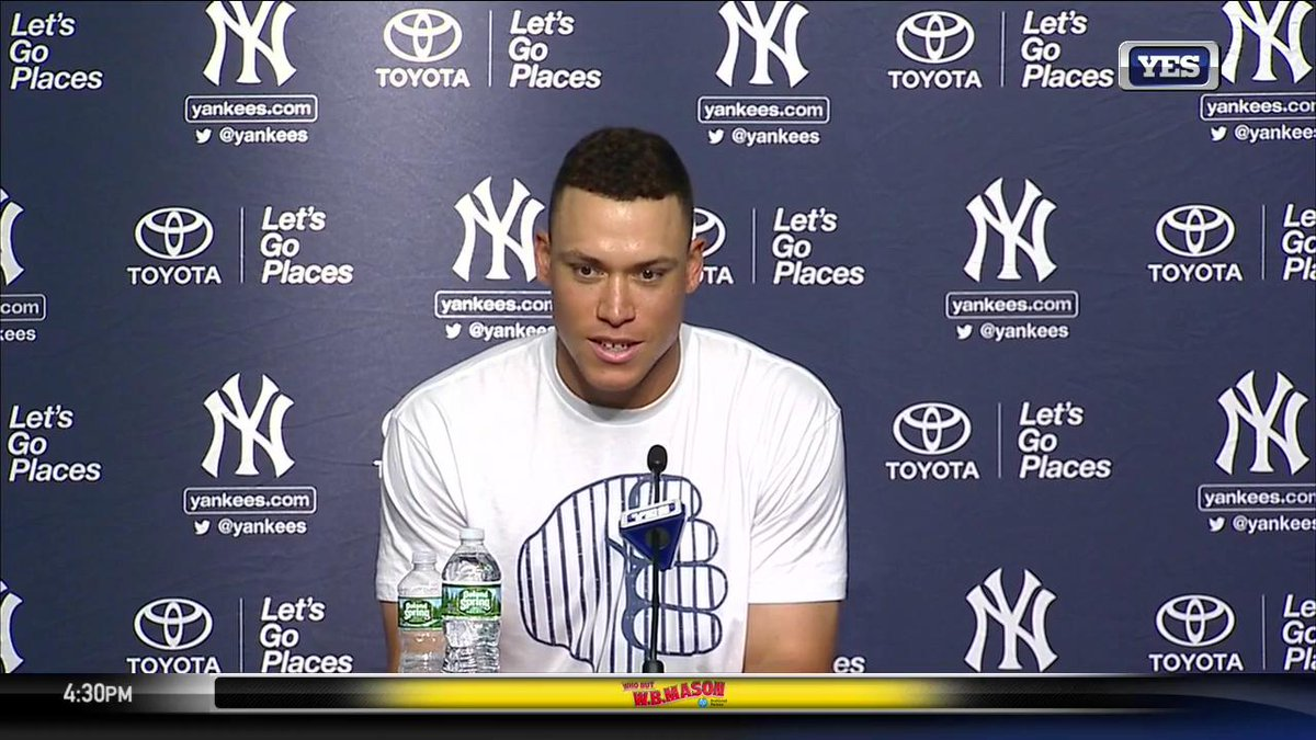 Aaron Judge's FULL POSTGAME remarks after becoming the first rookie in...