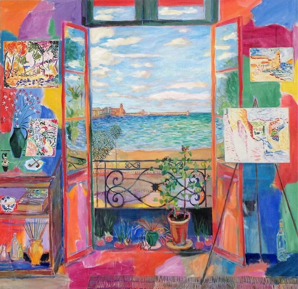Matisse´s Studio, Collioure (first & second window) Damian Elwes #paintings https://t.co/jVNhBmVv7B