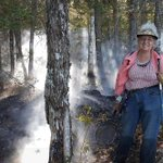 Woman armed with frying pan helps stop forest fire in Maine