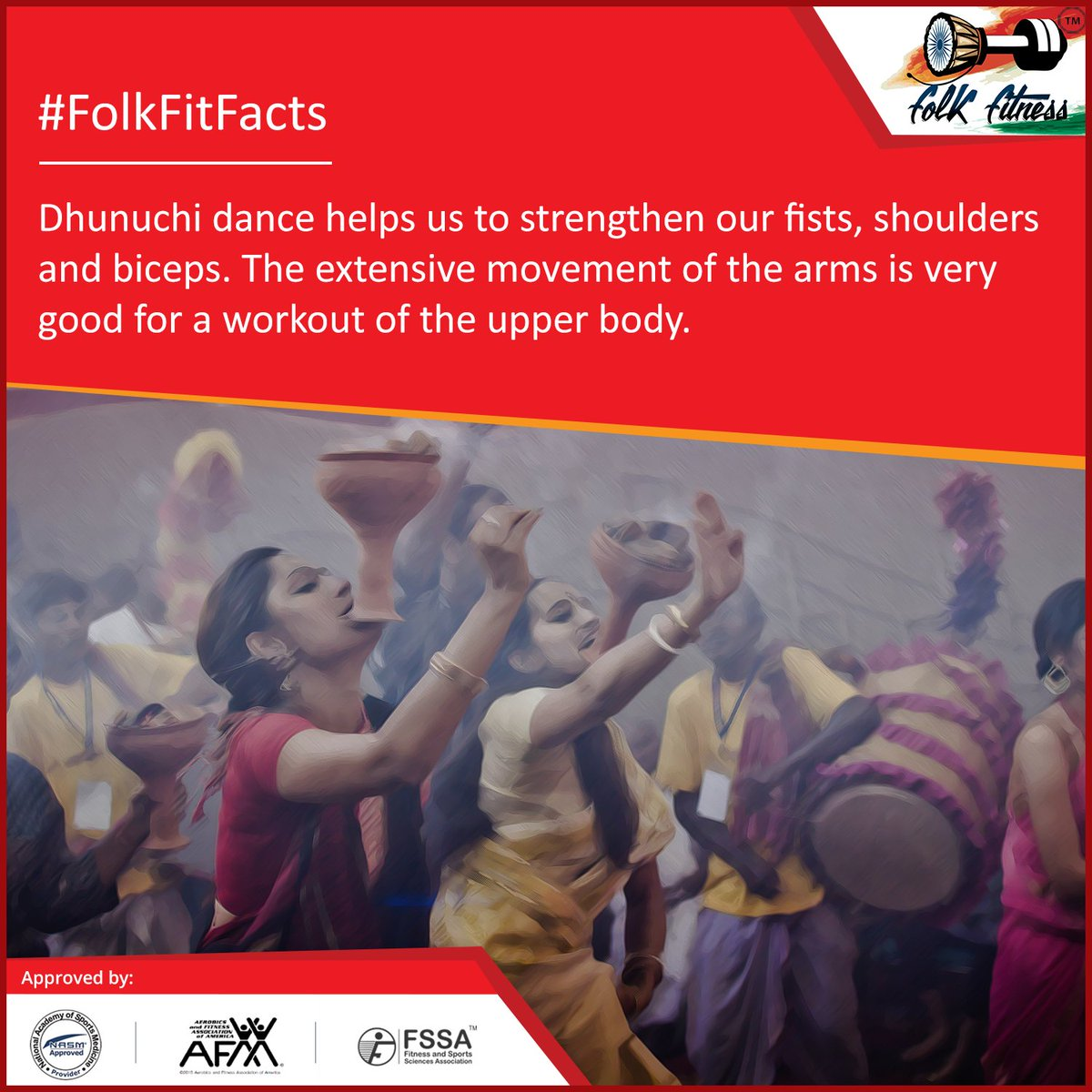 test Twitter Media - Apart from being an integral component of the #DurgaPuja, the #Dhunuchi #FolkDance has various other advantages.  #Navratri #FolkFitFacts https://t.co/2tpHL0WTIv