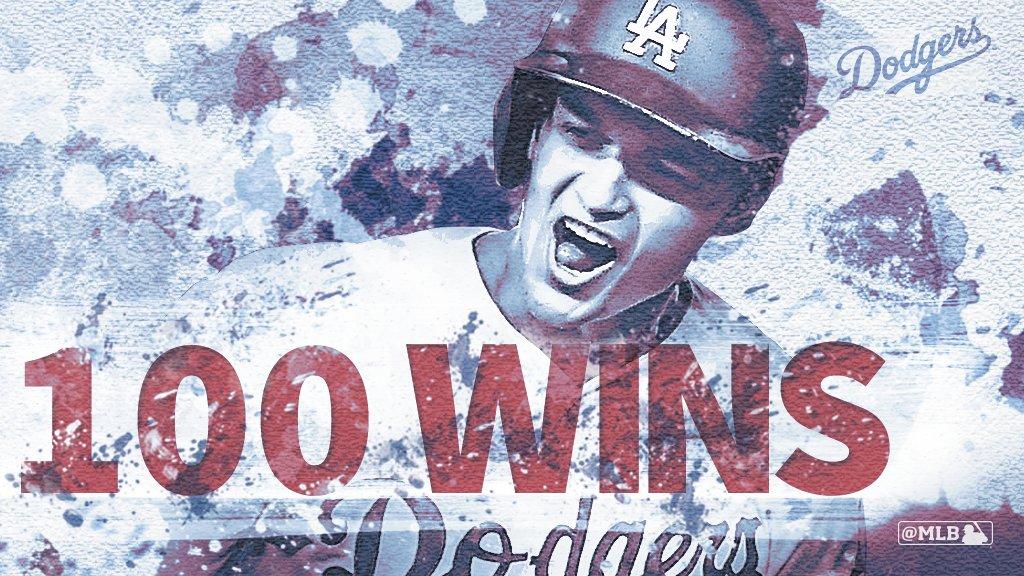 RT @MLB: ???? wins! @Dodgers reach the century mark for the first time since 1974. https://t.co/TE5RTwpckQ https://t.co/6VBVlTOE7D
