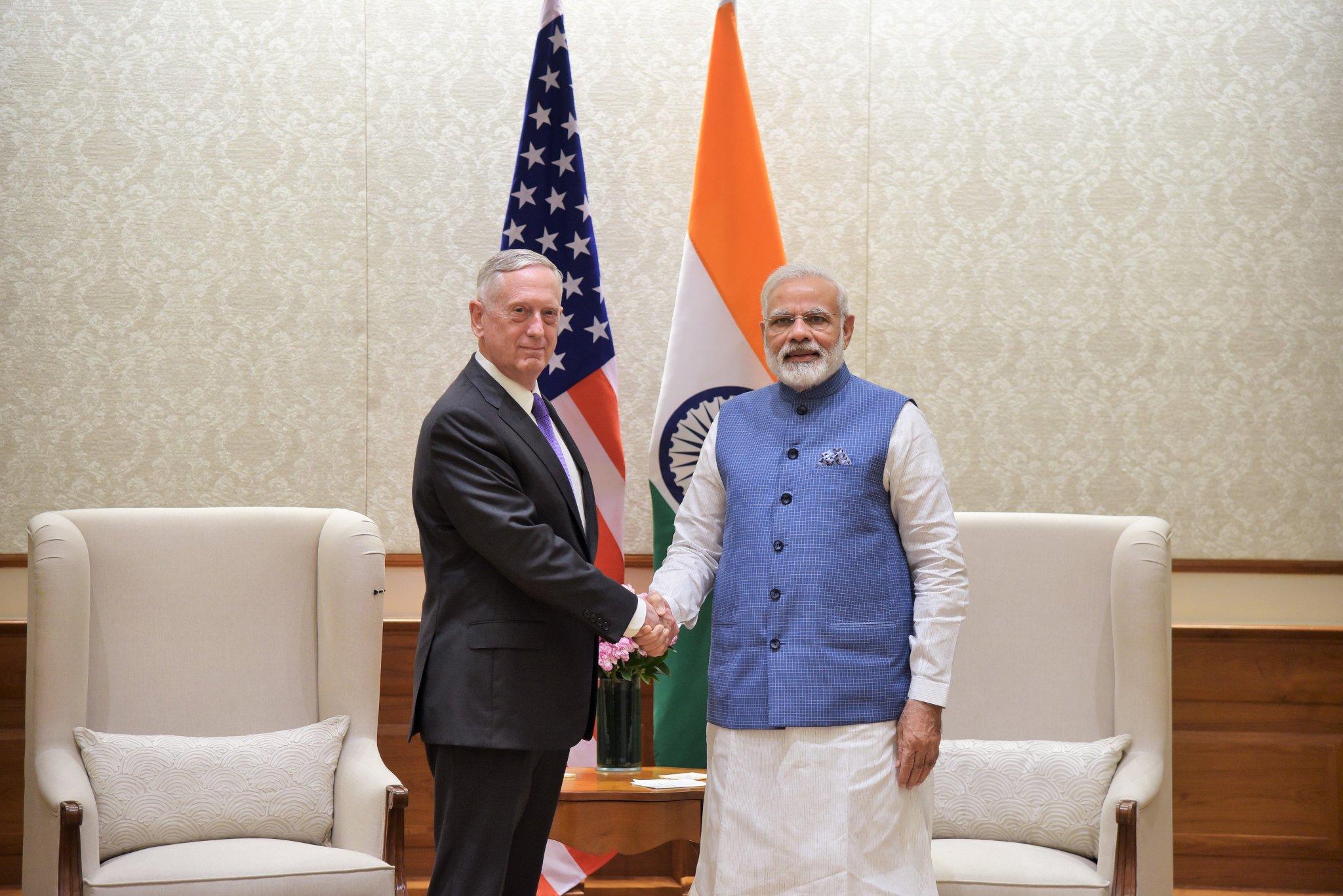 Met Mr. Jim Mattis, Secretary @DeptofDefense and discussed India-USA relations. https://t.co/rx8c7ISmYa
