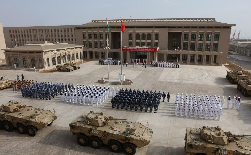 China conducts first military drills in Djibouti