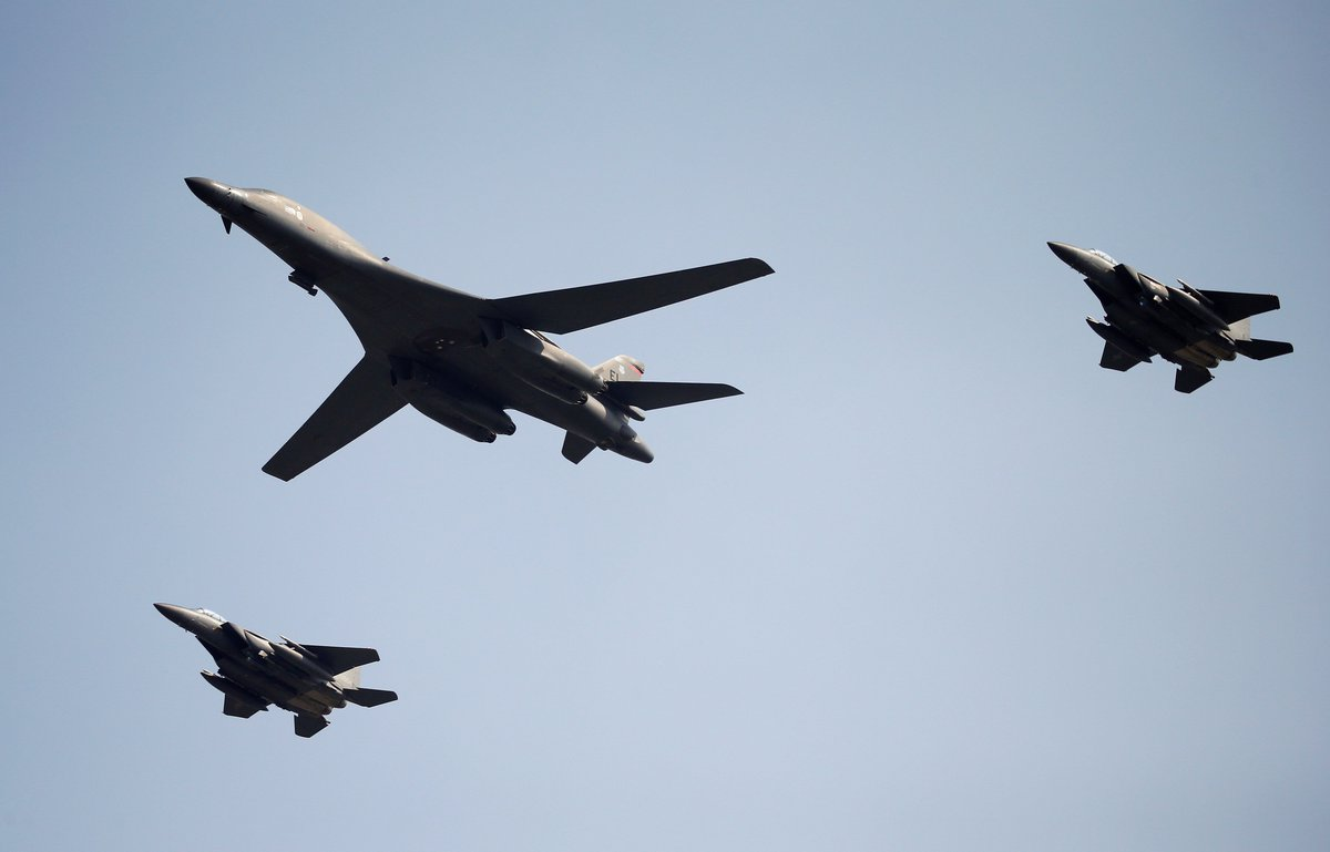 North Korea places jets in east after new U.S. bombers arrive