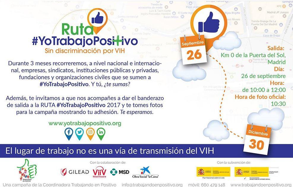 provar Twitter Mitjans - ➕ Hoy empieza la RUTA #YoTrabajoPositivo Sin discriminación por VIH. Próxima parada @abd_ong !! 💪🏽💪🏽 cc @TrabEnPositivo https://t.co/PTSzzTlEYd