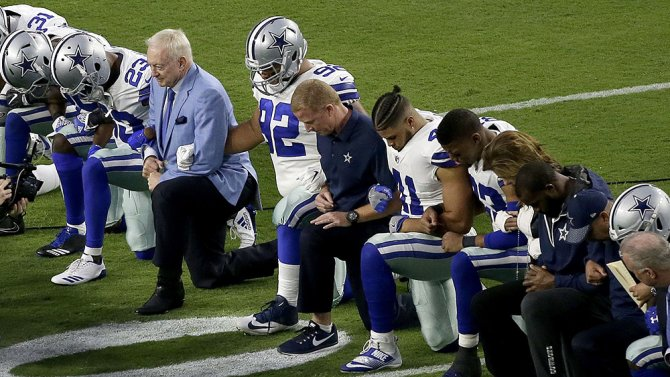 ".@realDonaldTrump blasts NFL ratings, praises ""great anger"" at Cowboys for taking a knee"