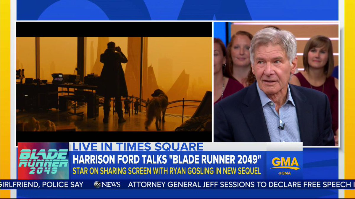 Was Harrison Ford punching @RyanGosling on set of @bladerunner an accident? Well...#BladeRunner2049