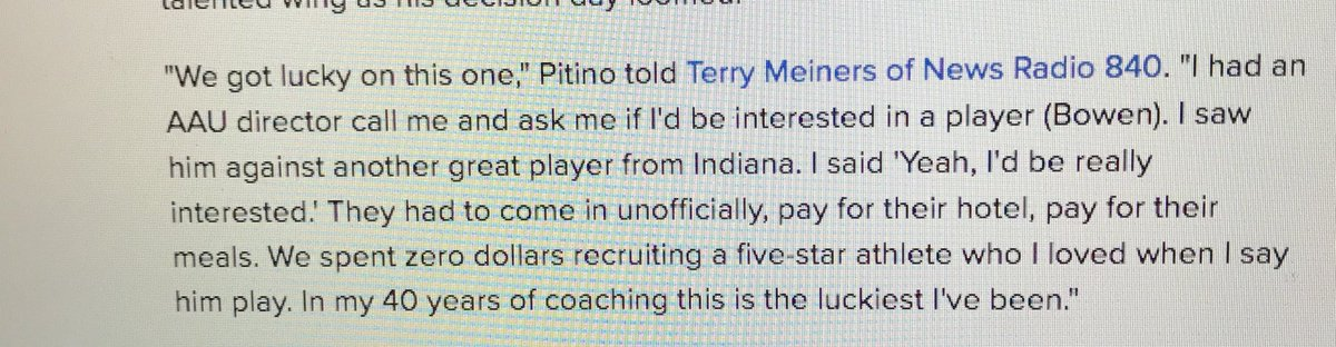 How Rick Pitino describes getting a 5 star recruit. Then how the FBI...