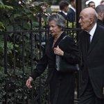 Valéry Giscard d'Estaing et Edouard Balladur aux obsèques de Liliane Bettencourt