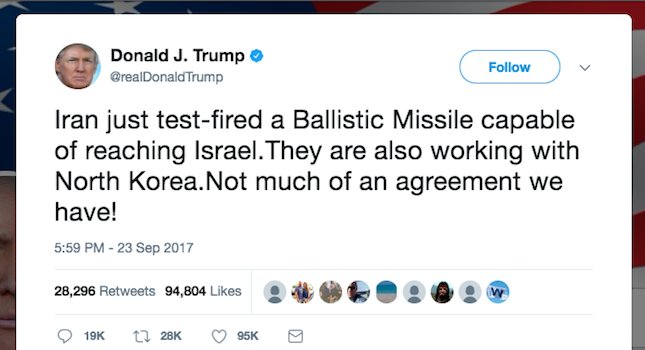 Iran missile launch that Trump tweeted about was fake: https://t.co/Gz0EGtByV4 https://t.co/IC4YG33g3o