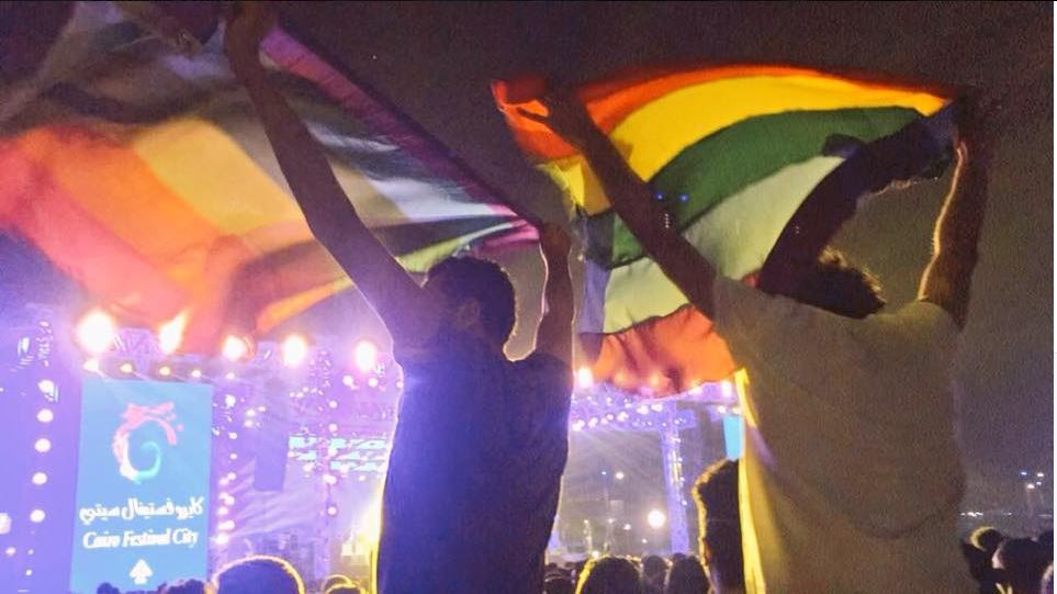 Egypt arrests 7 over rainbow flag at concert for 'promoting sexual deviancy'