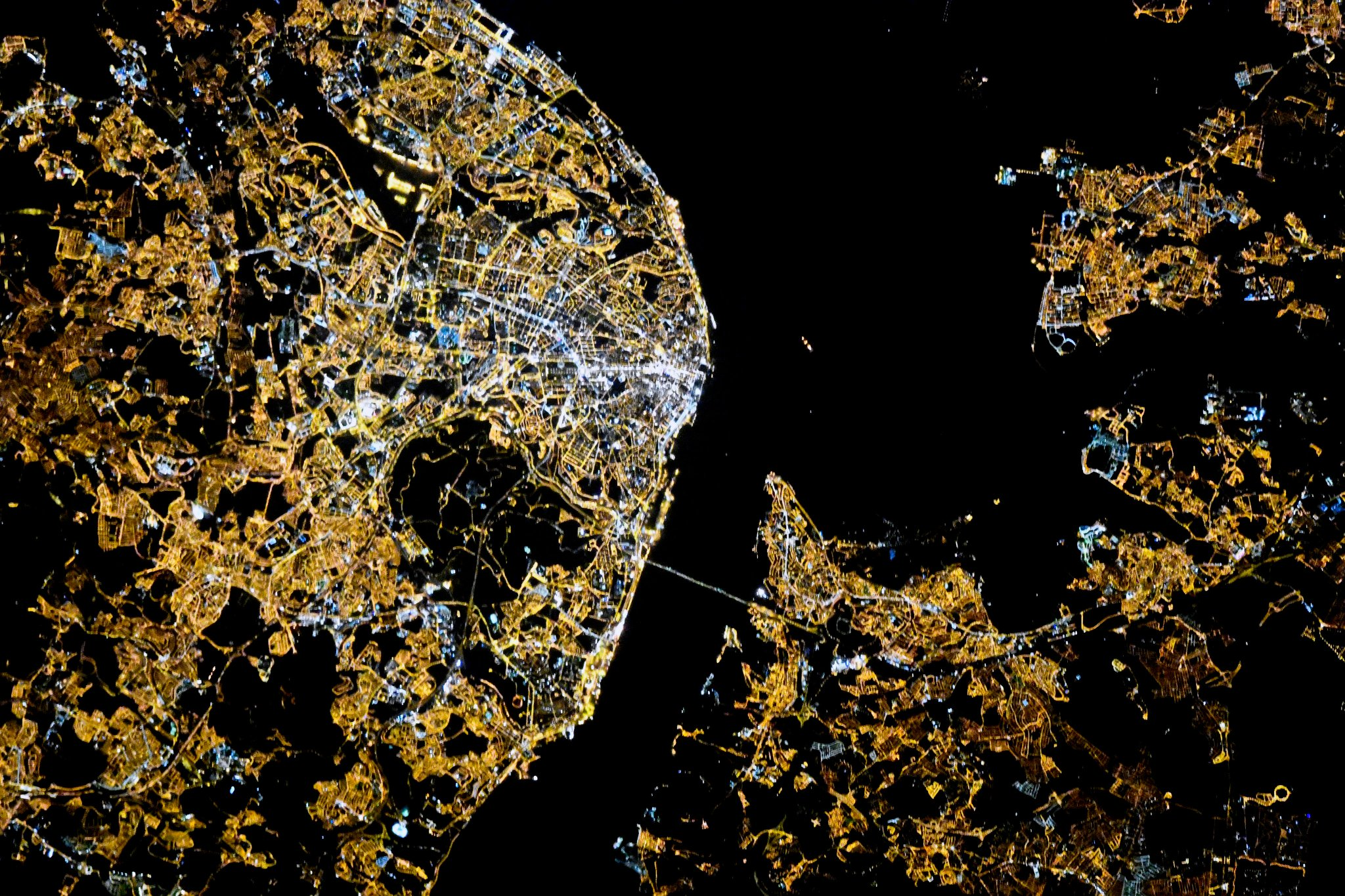 Our Earth's cities at night, from space
