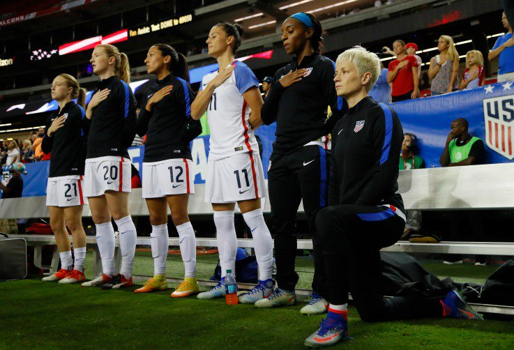 Donald Trump wants the NFL to ban kneeling during the anthem—U.S. Soccer already does