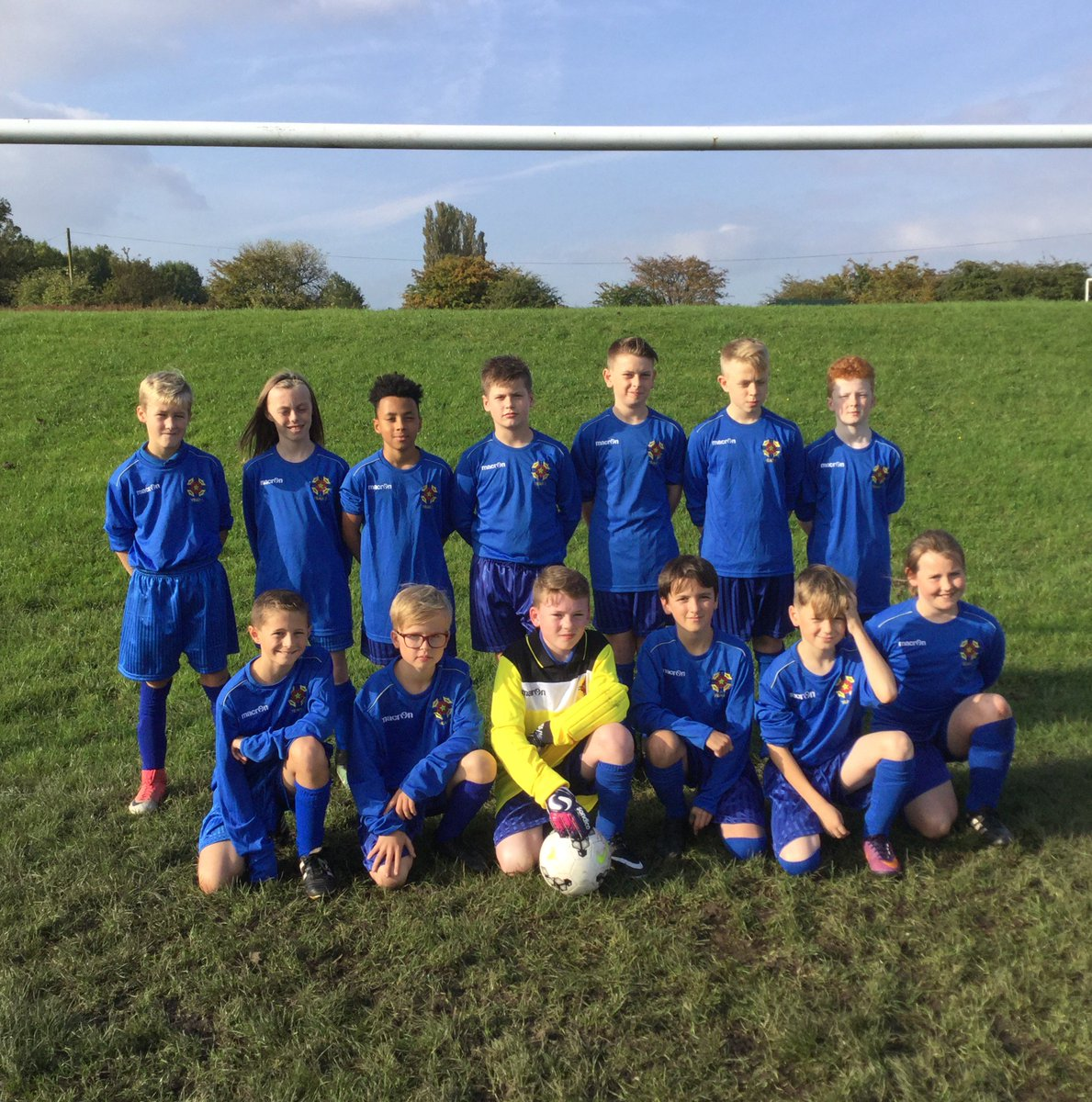 test Twitter Media - The year 7 football team line up against their match against @stmonicas #teamyear7 https://t.co/34nfKHvANX