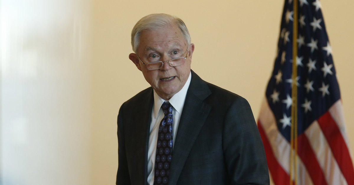 Jeff Sessions decries 'fragile egos' at colleges as DOJ will re-try woman who laughed at him
