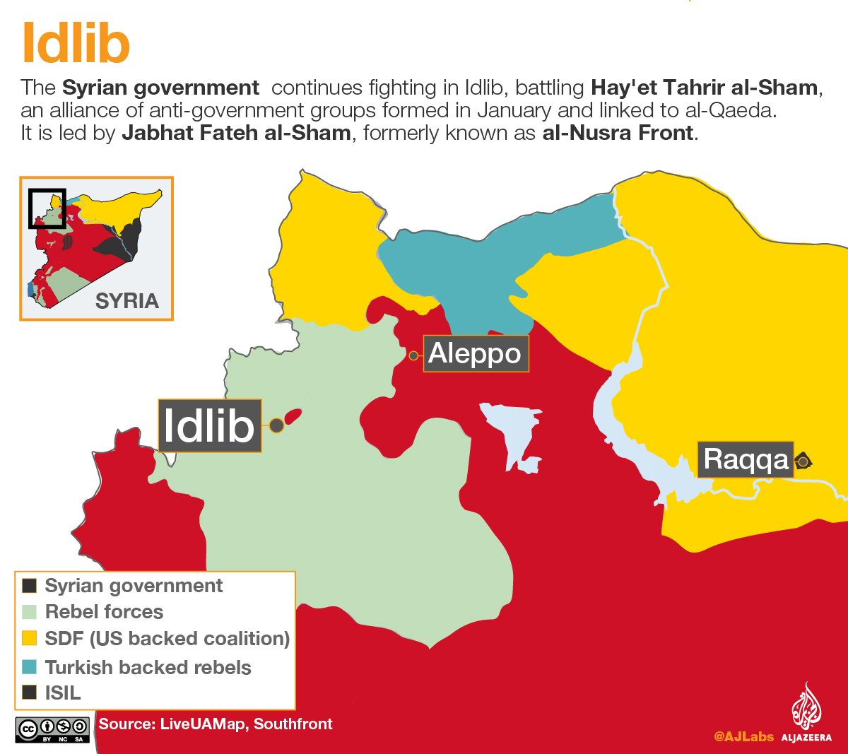 Battles intensify as fighting in Syria now focused on three key areas