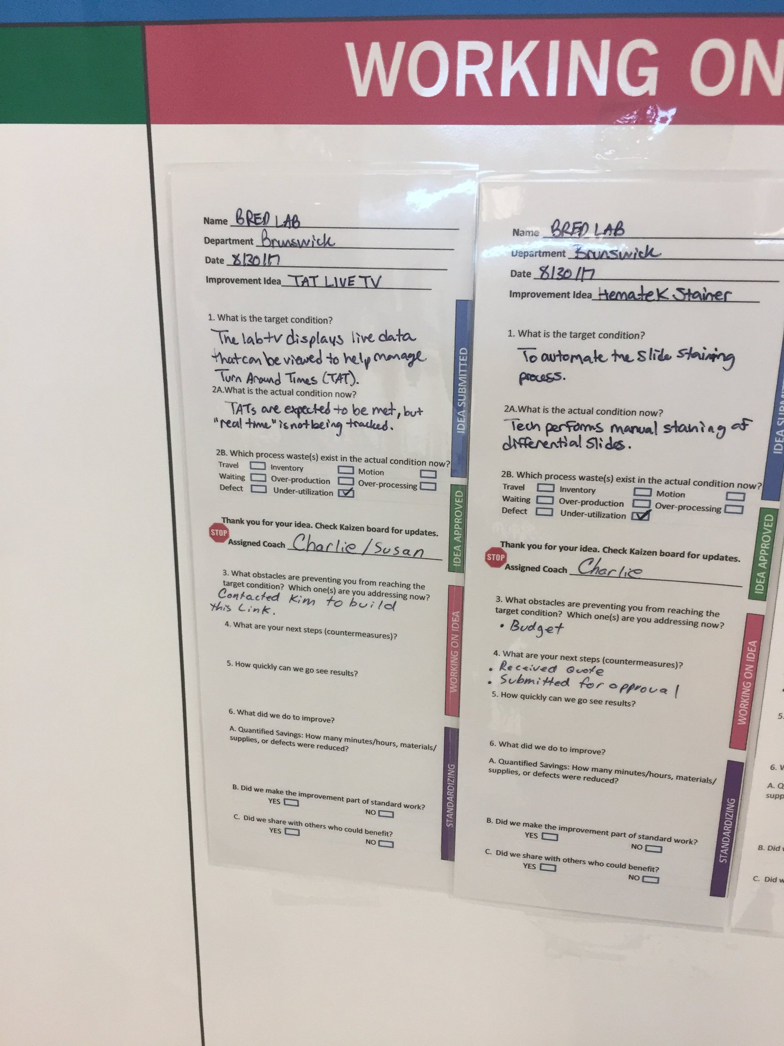 """I like the kaizen board because it makes the problems less about people and more about process"" https://t.co/nyNXnS347A"