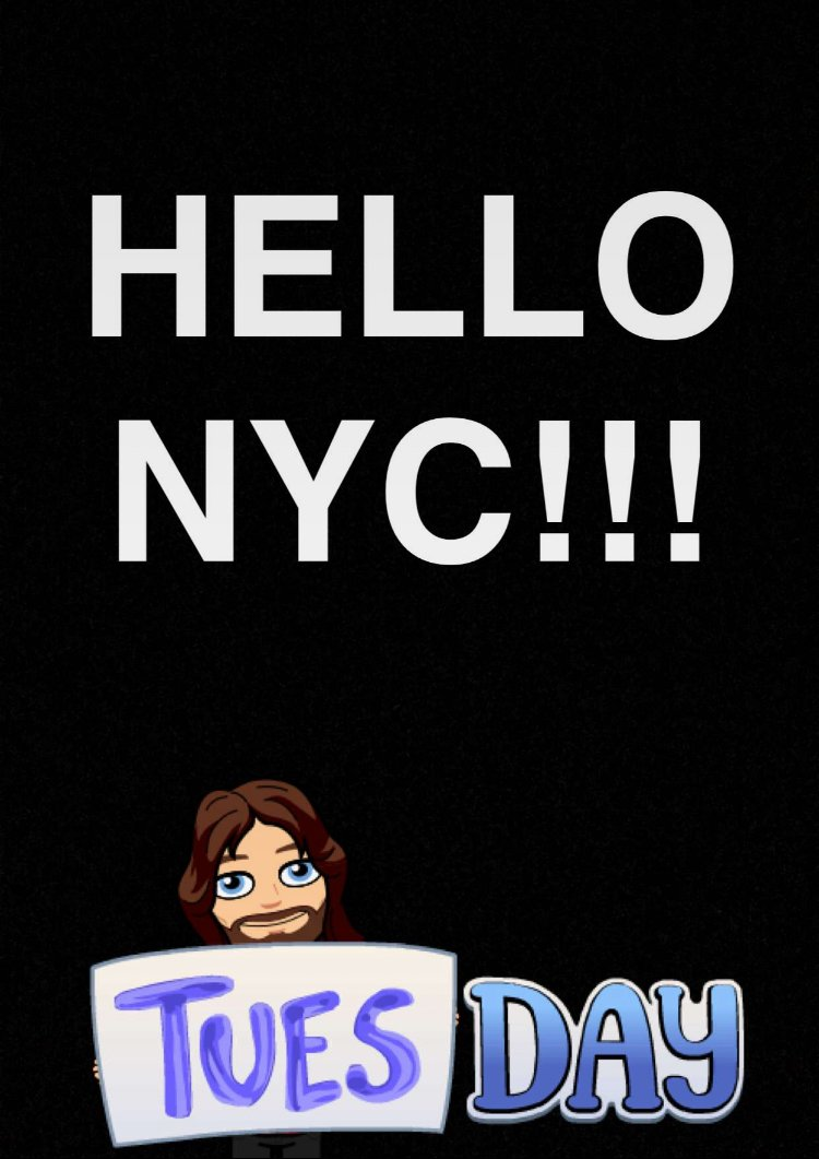 HELLO NYC!!! What're you up to? ???? https://t.co/Dzm0HWtSJu