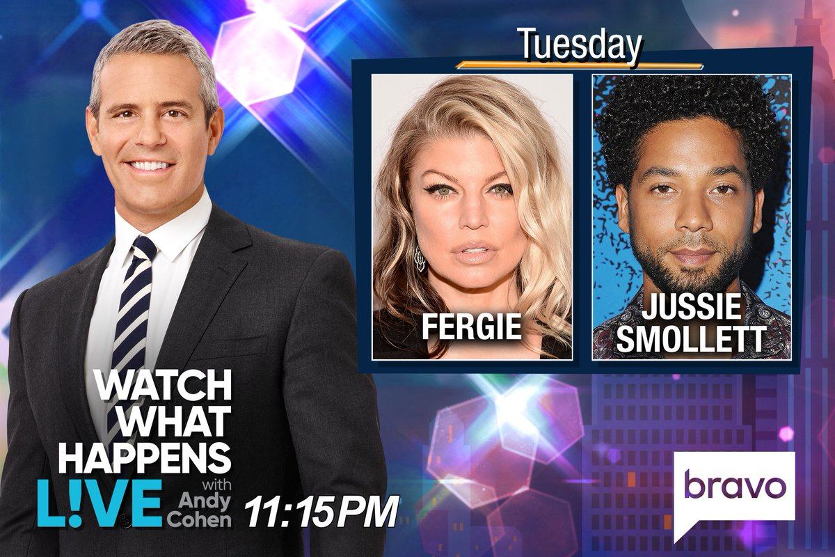 RT @BravoWWHL: TONIGHT at 11:15PM we're LIVE w/ @Fergie & @JussieSmollett! Tweet @Andy your questions! https://t.co/IHkzGwZXMm