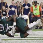 Michigan State RB LJ Scott's new best friend on campus: A football