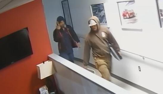 Battering-ram burglars; thieves strike car dealerships